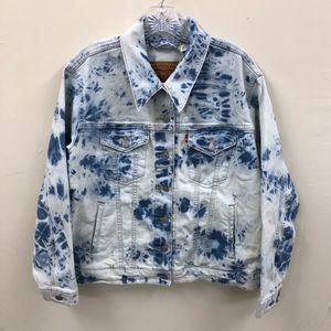 Levi's Bleached Denim Blue Jeans Women's 1X Trucker Jacket